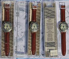 SWATCH AQUACHRONO OVERBOARD SBK105 chronograph 1995 NUOVO con scatola