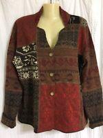 Peruvian Link Alpaca Collection Sz L Jacket Multi colored Great Condition