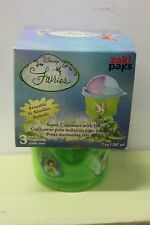 3 ZAK SNACK CONTAINERS & LIDS Disney Fairies Girls School Lunch Cup Travel NEW