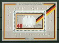 Bund Block 10 postfrisch mit Blindenschrift BRD 1974 Schule Lebach Auflage 15000