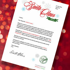 PERSONALISED LETTER FROM SANTA TO YOUR CHILD IN SPECIAL CHRISTMAS ENVELOPE