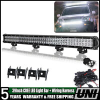 39inch Led Work Light Bar w/ Wire For Tractor Boat Off-Road SUV ATV Truck