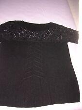 Pullover schwarz - oben Spitze und Ärmel Spitze - Escada? -s. Fotos/Beschreibung