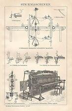 B0458 Macchine da Ricamo - Xilografia d'epoca - 1903 Vintage engraving