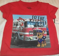 """""""NEW"""" Paw Patrol ~ MARSHALL Chase FIRE ENGINE ~ Red SHIRT Toddler Boy's 12M"""