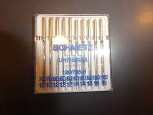Aiguilles machine à coudre universelles SCHMETZ  ASSORTIMENT  70/80/90/100 10pcs
