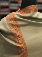 Pure Pashmina Shawl, Kashmir Hand Embroidery, Women Pure Cashmere Shawls, Wraps