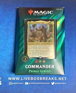 Magic The Gathering Commander Deck PRIMAL GENESIS Factory Sealed New