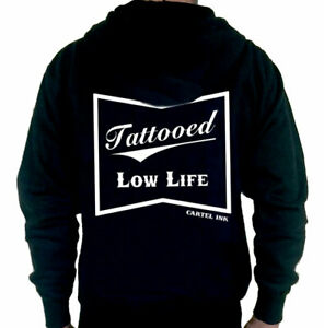 Tattooed Low Life Zippered Hoodie