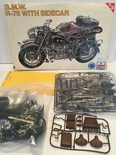 1:9 scale ERTL/ESCI plastic model kit, BMW R-75 with sidecar, civilian