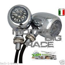FRECCE MOTO BULLET CROMO TRASPARENTE PER BMW DUCATI BUELL KTM M182