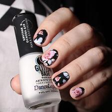 Art Pour Les Ongles Décalco À L'eau Emballages Noir Rose Floral Fleurs UV