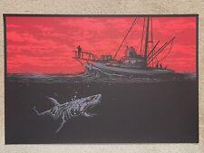 Jaws Orca Hooper Brody Quint Horror Movie Art Print Poster Mondo Dan Mumford
