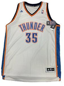 New Kevin Durant Adidas Men's OKC Thunder White 2X Swingman Stitch Jersey NWT