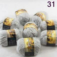 C Sale 8ballsx50g colorful Soft Chunky Hand Knitting Rainbow Wool Shawls Yarn 31