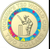 2020 ICC Women's T20 World Cup Cricket Coloured $2 Coin -UNC