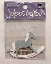 """Jolee's By You """"Blue Rocking Horse"""" Embellishment"""