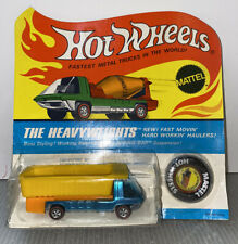 1969 Hot wheels redlines Heavyweights Dump Truck In Blister Pack Turquoise