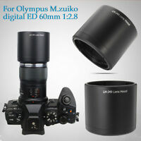 Camera Lens Hood For Olympus M.ZUIKO DIGITAL ED 60mm 1:2.8 Macro. LH-49  US