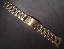 ROWI Germany 24mm Stainless Steel Bracelet Watch Band Deployment Buckle $83.95