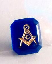 Masonic Blue Crystal for a Masonic Ring