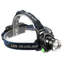 Camping Hunting 3500 Lumen CREE XML-T6 LED Headlamp Head Light 18650 Battery #A