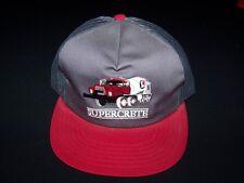 Supercrete Construction Vintage Snapback 1980s hat mesh back truckers cap