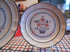 "Brambleberry Salad Plate (s) 8"" Hearthside Cumberland Stoneware Blue White Red !"