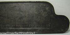 Orig NEW YORK HERALD TRIBUNE Cast Iron Newspaper Stand Paper Topper Weight