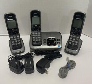 Uniden Dect 6.0 D1680-4 1.9 GHz 3 Handsets, w/ Answer Machine Good Condition