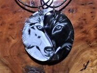 Yin Yang Wolf Friendship Necklaces,Taoism Jewelry,Spiritual,Best Friends Jewelry