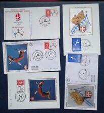 P013. 3 enveloppes et 2 cartes 1er jour. Jeux Olympique d'hiver. Tignes 1992.