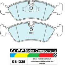 BRAKE PADS DB1228 TO SUIT Holden Calibra,Astra,Daewoo ESPERO 1989-1999