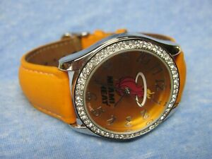 Women's MIAMI HEAT Gemmed Watch by GAME TIME w/ New Battery