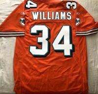 Ricky Williams Miami Dolphins authentic Reebok triple stitched orange jersey NEW