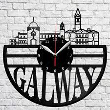 Galway Ireland Skyline Vinyl Record Wall Clock Home Fan Art Decor 12'' 30cm 6315