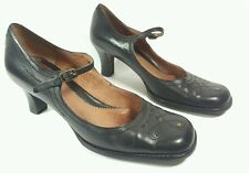 Clarks black leather mid heel shoes uk 5 Eu 38