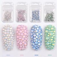 Mixed Size Opal Nail Rhinestones Crystal Glass Gem UV Gel Nail Art 3D Decor Tool
