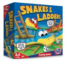 Traditional Snakes and Ladders Children Board Game Classic Kids Family Gift HTI