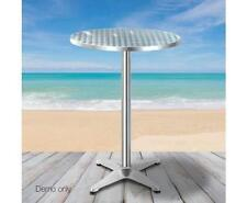 Aluminium Indoor Outdoor Bar Cafe Dining Portable Round Table Height Adjustable