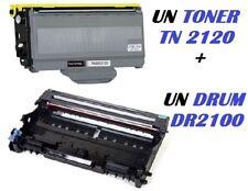 CARTUCCIA PER BROTHER HL-2140 HL-2150NR HL-2170WR TONER TN2120 + DRUM DR2100