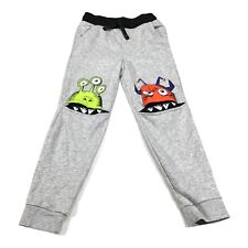 365 Kids Sweatpants Garanimals Monster Knee Joggers Grey Pants 8US with Pockets
