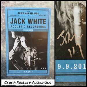 GFA Acoustic Recordings JACK WHITE Signed 11x17 Matte Poster COA