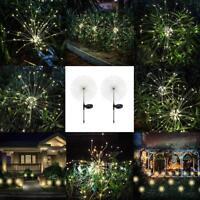 Solar 105 LED Starburst Fairy Firework String Light Christmas Garden Decor Lamp