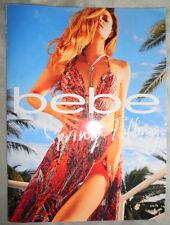 Bebe fashion catalog 2014 Nina Agdal Sara Sampaio Emma Stern Nielsen dress bag