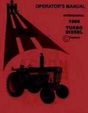 International Harvester 1066 Turbo Diesel Tractor Owner Operators Manual IH