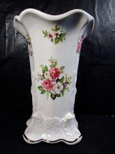 """James Kent  """" Old Foley """"  8"""" Vase  with  Roses Design  --  Unusual Find"""