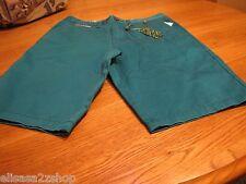 Men's RARE Modern Amusement walk casual shorts 28 turquoise BL CROW school surf