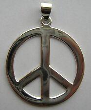 MAGNIFIQUE PENDENTIF ARGENT 925/1000 PEACE AND LOVE POIDS 8,3 GM SILVER PENDANT
