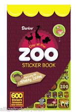 600 Stickers Zoo Safari Animals Sticker Book 6 Sheets! Kids Darice ABCraft
